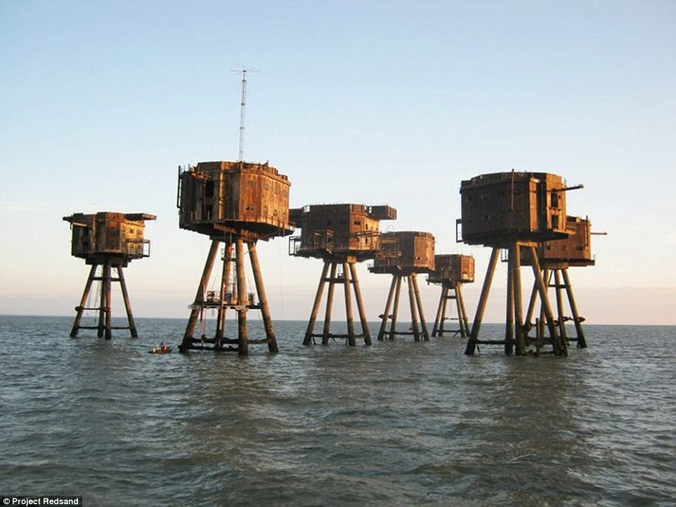 You Can't Help But Be Awed By These 10 Abandoned Maunsell Sea Forts and Oil Rigs and What Have Been Done to Some of Them